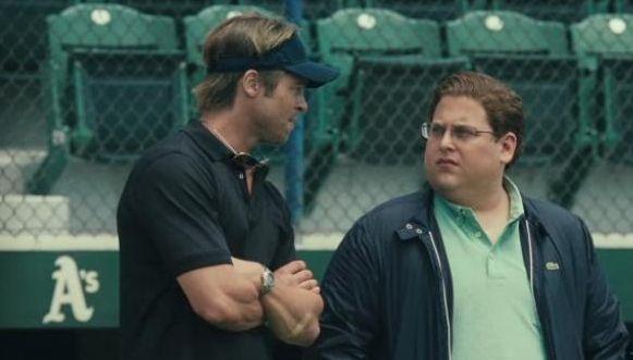 Moneyball Brad Pitt and Jonah Hill